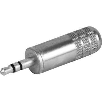 "Switchcraft 3.5mm (1/8"" Mini) Stereo Plug 0.290"" Cable Diameter (Nickel Handle, Tin Finger)"