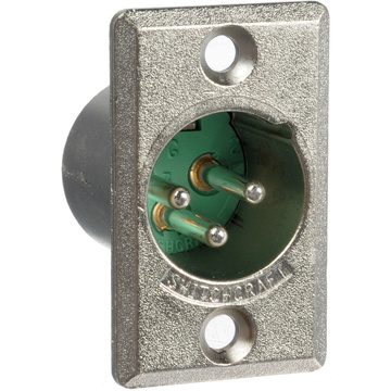 Switchcraft D3M 3-pin XLR Male Connector for Access Panel Mounting