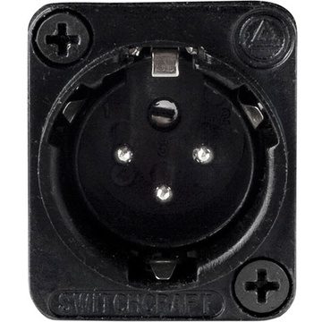 Switchcraft E Series 3-Pin XLR Male Solder Contacts (Black, Silver)