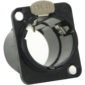 Switchcraft EH Series Empty Female Housing with Push Latch (Black)