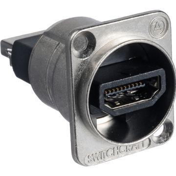 Switchcraft EH Series HDMI Feedthrough Connector (Nickel)