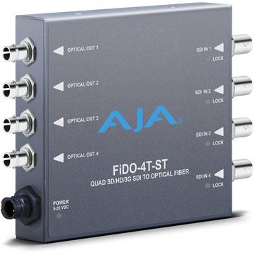 AJA FIDO-4T-ST Quad Channel 3G-SDI to ST Fiber Mini Converter