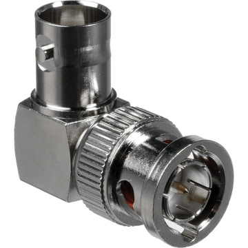 Comprehensive BJ-BP-L 75 Ohm Male BNC to Female BNC Angled Adapter