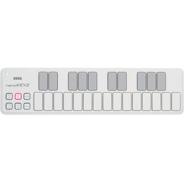Korg nanoKEY2 - Slim-Line USB MIDI Controller (White)