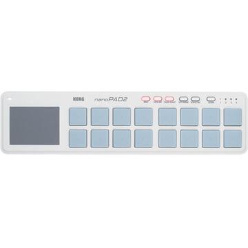 Korg nanoPAD 2 - Slim-Line USB MIDI Controller (White)