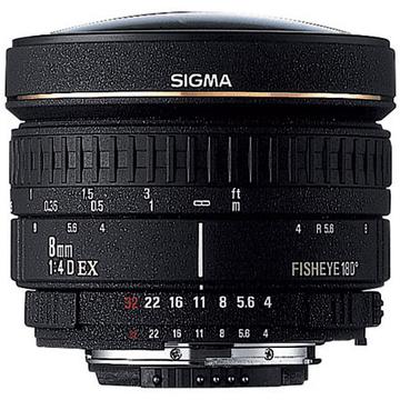 Sigma Fisheye 8mm f/3.5 EX DG Circular Fisheye Autofocus Lens for Nikon AF