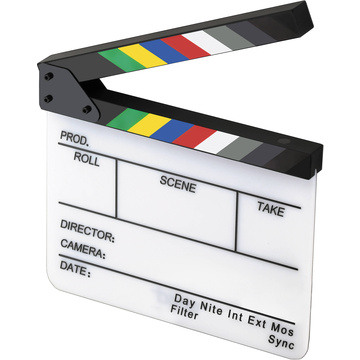 Elvid 7-Section Acrylic Production Slate with Color Clapper Sticks
