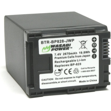 Wasabi Power Battery for Canon BP-828