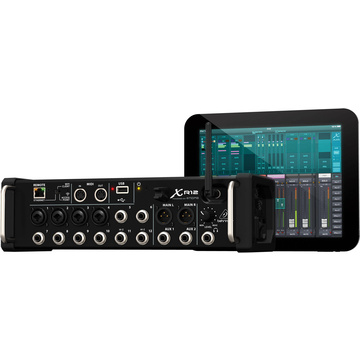 Behringer X Air XR12 12-Input Digital Mixer for iPad/Android Tablets with Wi-Fi and USB Recorder