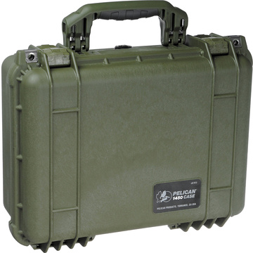 Pelican 1450 NF Case without Foam (Olive Drab Green)