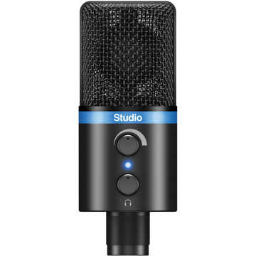 IK Multimedia iRig Mic Studio, Portable Large-Diaphragm Digital Microphone (Black)