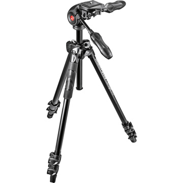 Manfrotto MK290LTA3-3W 290 Light Aluminum Tripod with 3-Way Pan/Tilt Head