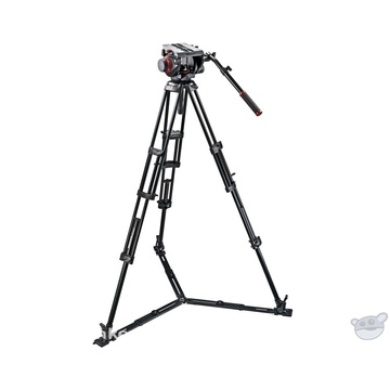 Manfrotto 509HD Video Head & 545GB Aluminum Tripod Pro Ground-Twin Kit 100