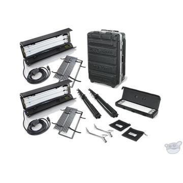 Kino Flo Dual Diva-Lite 201 Fixtures with Flight Case Kit (230VAC)