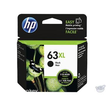 HP 63XL High Yield Black Original Ink Cartridge (F6U64AA)