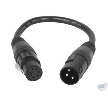 American DJ AC3PM5PFM Accu-Cable 3-Pin Male to 5-Pin XLR DMX Turnaround Cable