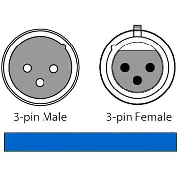 CHAUVET 3-Pin DMX Cable (Black, 25')