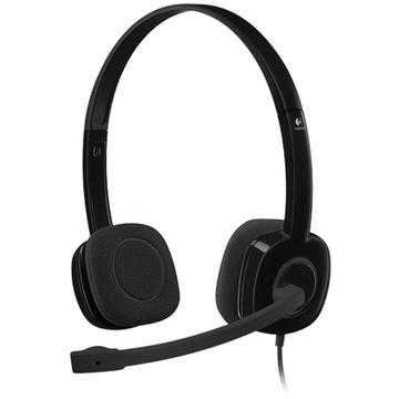 Logitech H151 Stereo Headset Single Pin Analogue Black