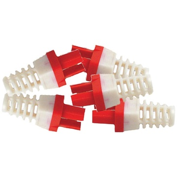 Platinum Tools Strain Reliefs for EZ-RJ45 CAT6 Connectors (50-Pack, Red)