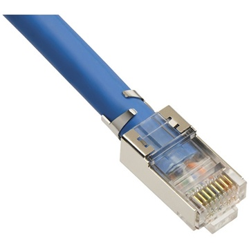 Platinum Tools RJ-45 CAT6A/10-Gig Shielded Connectors with Liners (50-Pieces, Clamshell Packaging)
