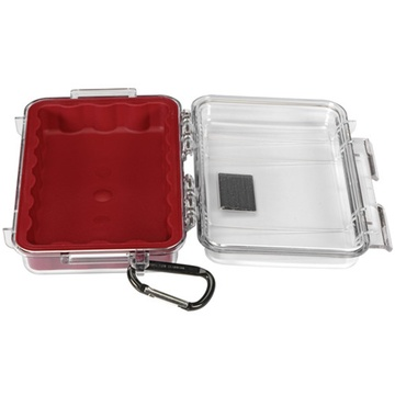 Pelican 1040 Micro Case (Red/Clear)