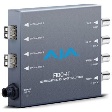 AJA FiDO-4T Quad Channel 3G-SDI to LC Fiber Mini Converter
