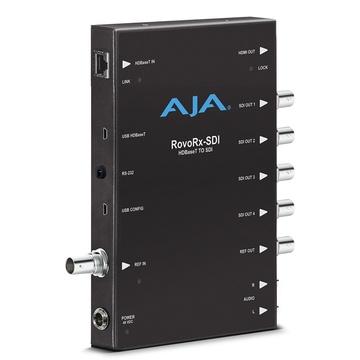 AJA AJA-ROVORX-SDI UltraHD/HD HDBaseT Receiver with 6G/3G-SDI & HDMI Outputs for RovoCam Camera