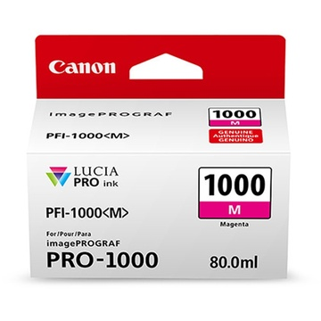 Canon PFI-1000 M LUCIA PRO Magenta Ink Cartridge (80ml)