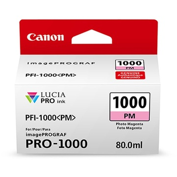 Canon PFI-1000 PM LUCIA PRO Photo Magenta Ink Cartridge (80ml)
