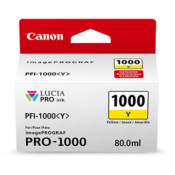 Canon PFI-1000 Y LUCIA PRO Yellow Ink Cartridge (80ml)