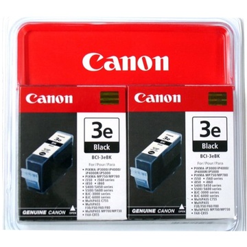 Canon BCI-3eBK Black Ink Cartridge Twin Pack