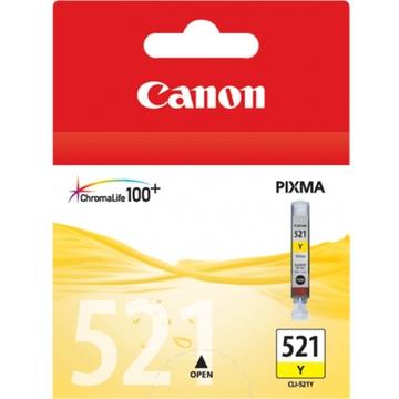 Canon CLI-521 Y ChromaLife100 Yellow Ink Cartridge