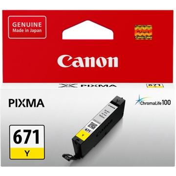 Canon CLI-671 ChromaLife100 Yellow Ink Cartridge