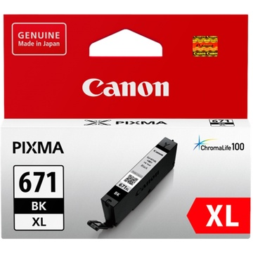 Canon CLI-671XL ChromaLife100 Extra Large Black Ink Cartridge
