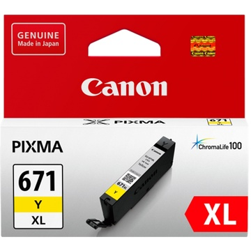 Canon CLI-671XL ChromaLife100 Extra Large Yellow Ink Cartridge