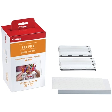 Canon RP-108 High-Capacity Color Ink/Paper Set for SELPHY CP1200