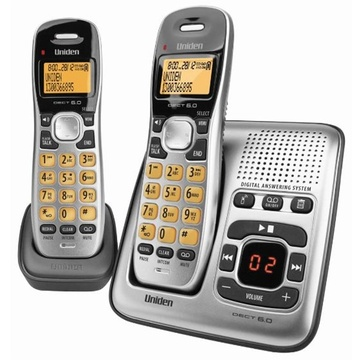 Uniden DECT1735+1 Digital DECT Cordless phone with Answer Machine (Twin)