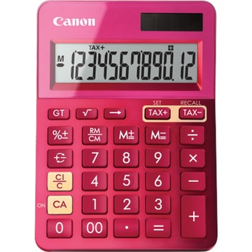 Canon LS-123K Pink Desktop Tax Calculator
