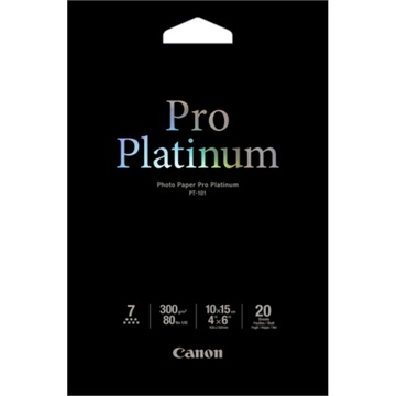 Canon PT-101 4X6 Photo Paper Pro Platinum (20 Sheets)