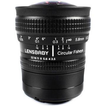 Lensbaby 5.8mm f/3.5 Circular Fisheye Lens for Micro Four Thirds
