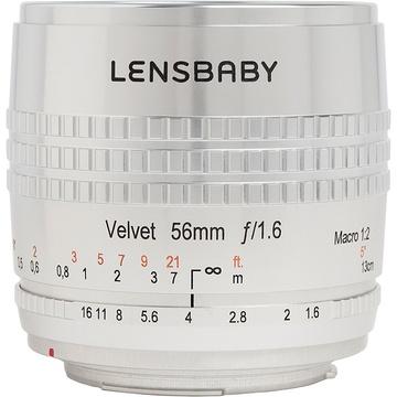 Lensbaby Velvet 56mm f/1.6 SE Lens for Nikon F (Silver)