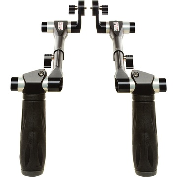 SHAPE Telescopic Handles with ARRI Rosettes (Black)