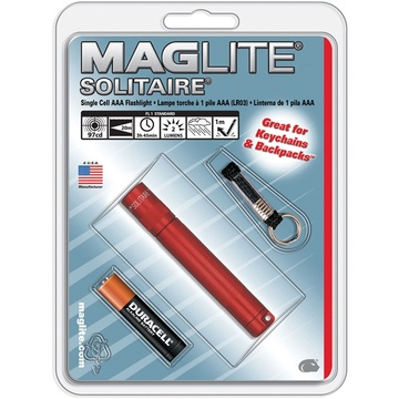 Maglite Solitaire 1-Cell AAA Flashlight (Red)