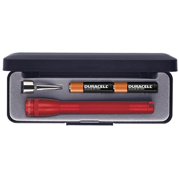 Maglite Mini Maglite 2-Cell AAA Flashlight with Clip and Presentation Box (Red)