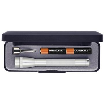 Maglite Mini Maglite 2-Cell AAA Flashlight with Clip and Presentation Box (Silver)