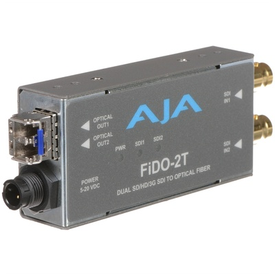 AJA FiDO-2T SD/HD/3G-SDI to Optical Fiber Converter