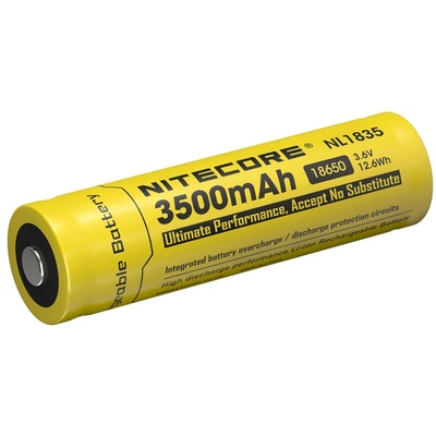 Nitecore NL1835 Li-Ion Rechargeable Battery 18650 (3.6V, 3500mAh)