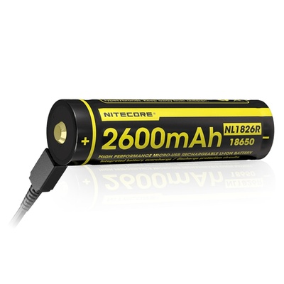 NITECORE NL1826R Li-Ion USB Rechargeable Battery 18650 (2600mAh)