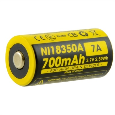 NITECORE IMR18350 Li-Ion Rechargeable Battery (700mAh)