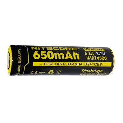 NITECORE NI14500A Flat Top Li-Ion Rechargeable IMR 14500 Battery (650mAh)